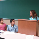 Some of our kids practicing debate.